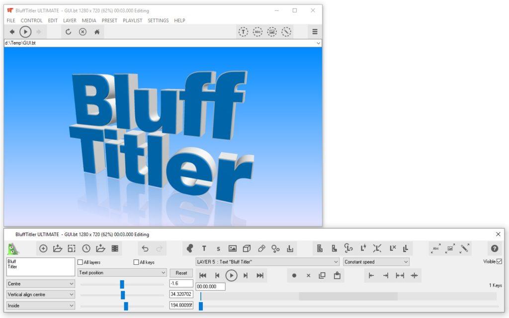 تحميل برنامج BluffTitler Ultimate 15.0.0.0 لتصميم وإنشاء رسوم متحركة وعناوين ثلاثيةالأبعاد
