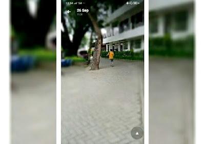 hasil efek blur foto di smartphone Realme