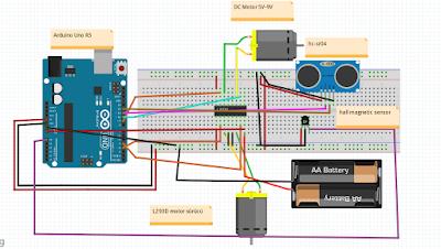 Arduino Manyetik Şeridi Takip Eden  Araç