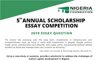 NHEF Annual Scholarship Essay Competition Form 2019 [Undergraduates]