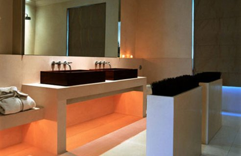 Modern home bathroom lighting ideas