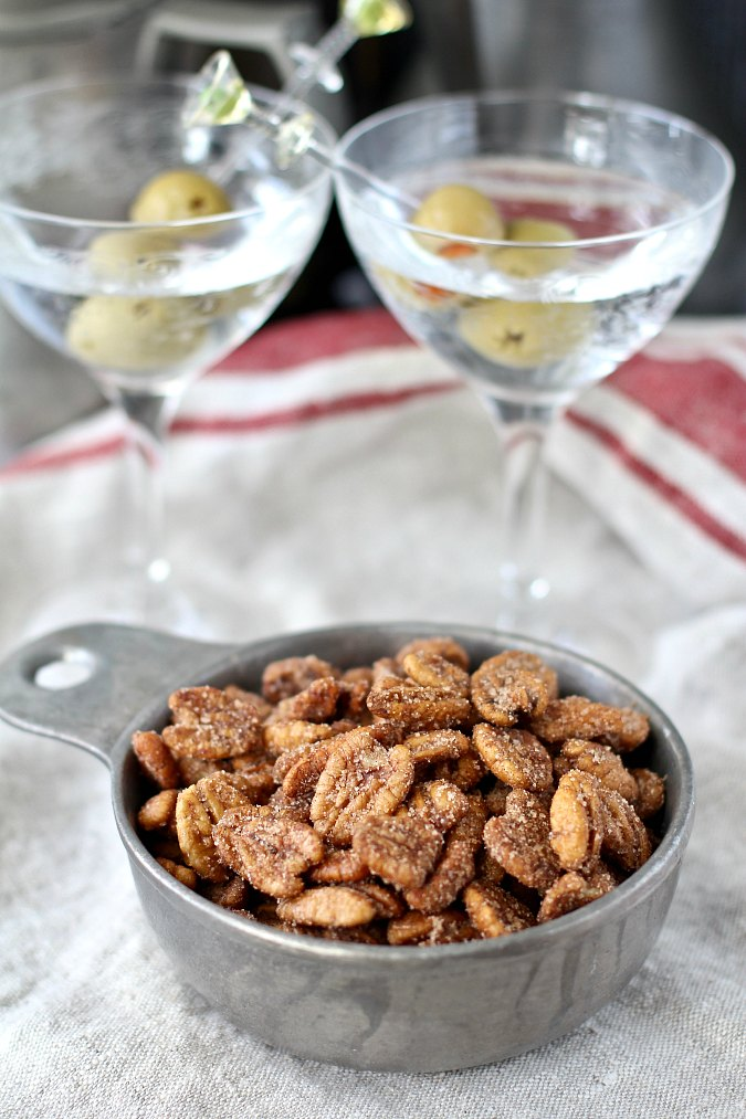 Spiced Pecans with a Rum Glaze