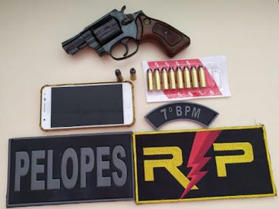 Em operação conjunta, polícia  prende duas pessoas  e apreende arma de fogo e munições  em Batalha e Pão de Açúcar
