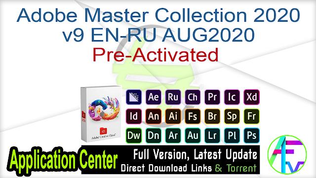 Adobe Master Collection 2020 v9 EN-RU AUG2020 Preactivated