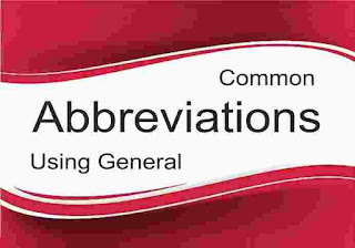 Important Abbreviations  Short Form Words
