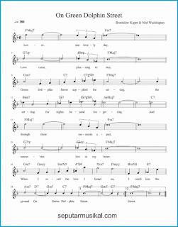 chord on green dolphin street lagu jazz standar