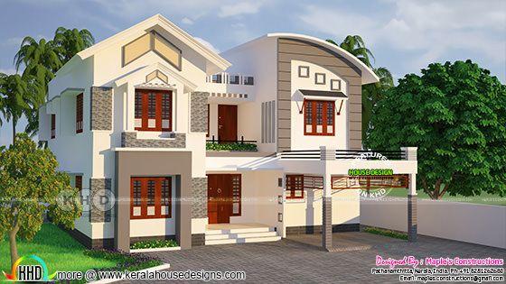 2624 square feet modern 4 bedroom house