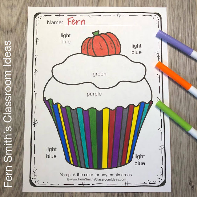 Halloween Color By Code Kindergarten Know Your Numbers & Know Your Colors Bundle #FernSmithsClassroomIdeas