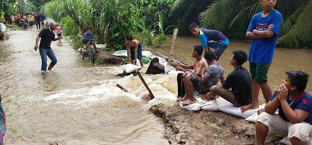 Akibat Curah Hujan Tinggi 19 Desa Yang Tersebar di 11 Kecamatan di Kabupaten Asahan Terendam Banjir