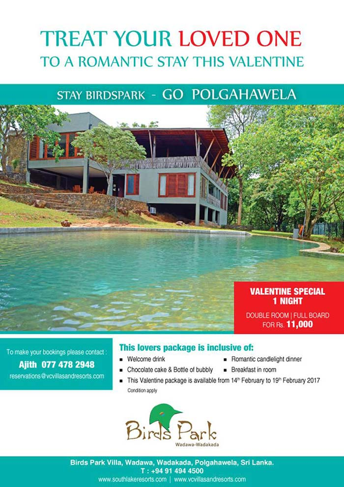 The best way to get to Birds Park, is by travelling via Naramala, passing katunayake (E02) Via Minuwangoda. Located about 01 and a ½ hours from Colombo is the ideal day outing and vacation destination of choice. Once you pass through the lush paddy fields on the windy road passing the hand pottery village, you'll get to a little hillock standing almost alone, a steep climb will bring you to the door step of this unique property. Alternatively one could traverse via kandy road and turn off at Warakapola and continue through to Polgahawela.