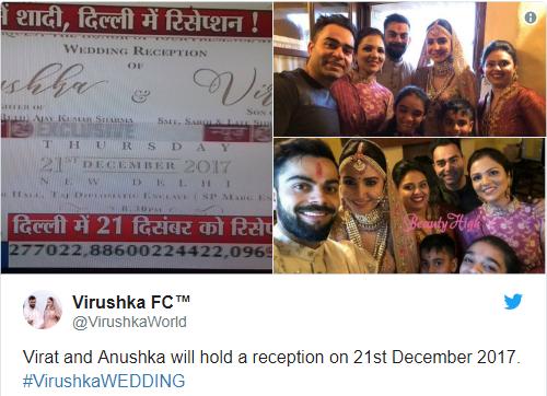 Tweet from Virushka FC