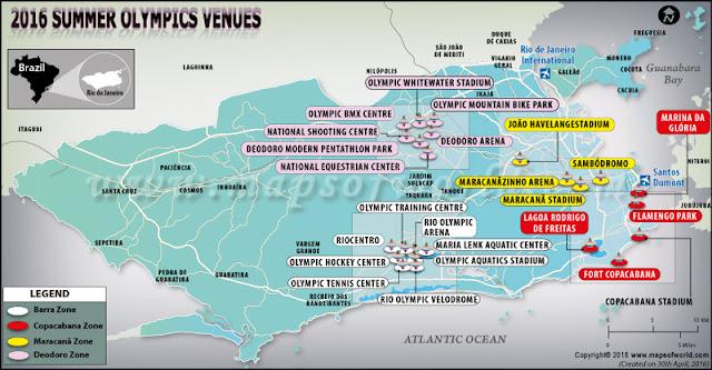 Olympics 2016 Rio Hosting Venues, Cities, Locations