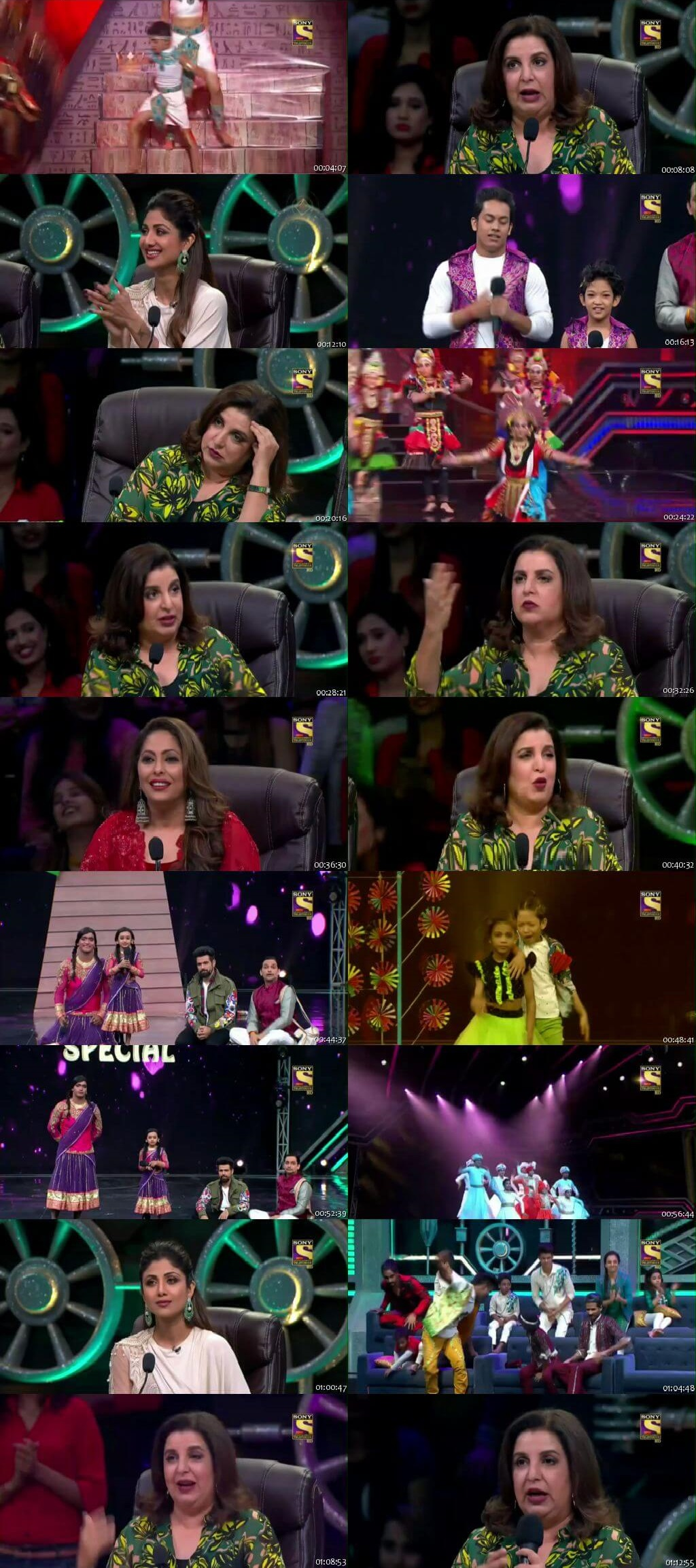 Screenshots Of Hindi Show Super Dancer Chapter 3 17th March 2019 Episode 24 300MB 480P HD