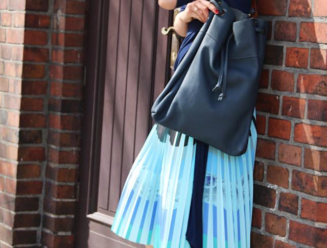 confashion, kolorowa plisowana spodnica, jak nosic, stylistka poznan, novamoda style, novamoda streetstyle, pleated skirt, wiosenny styl