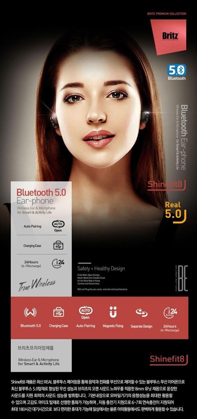 브리츠(Britz) 블루투스 이어폰 Shinefit8