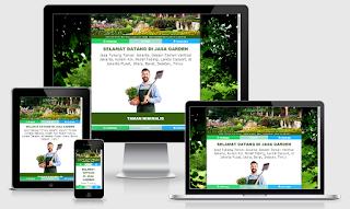 Minisite web blog garden jasa buat taman kolam renang dll