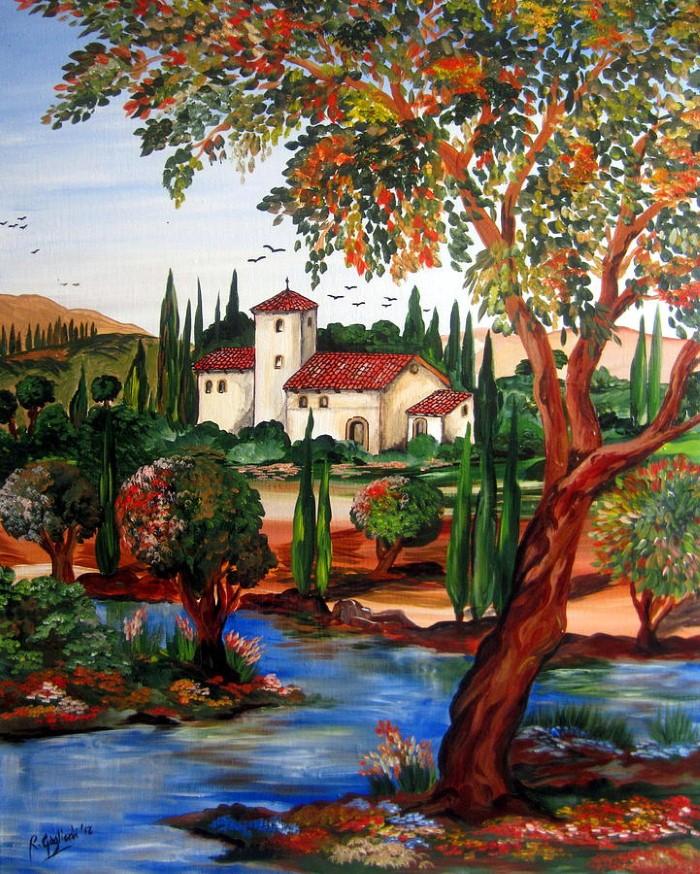 Итальянские деревни и пейзажи. Roberto Gagliardi 3