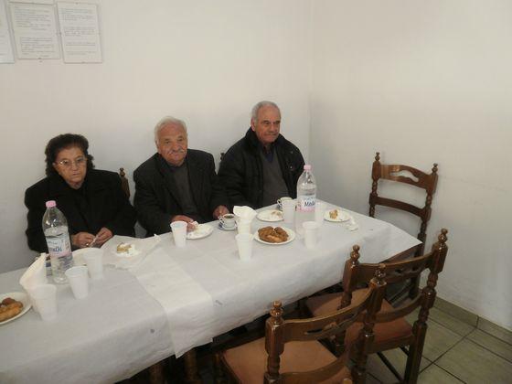 Κοπή πρωτοχρονιάτικης πίτας στην Ενορία των Αγίων Αναργύρων στον Καραβόμυλο