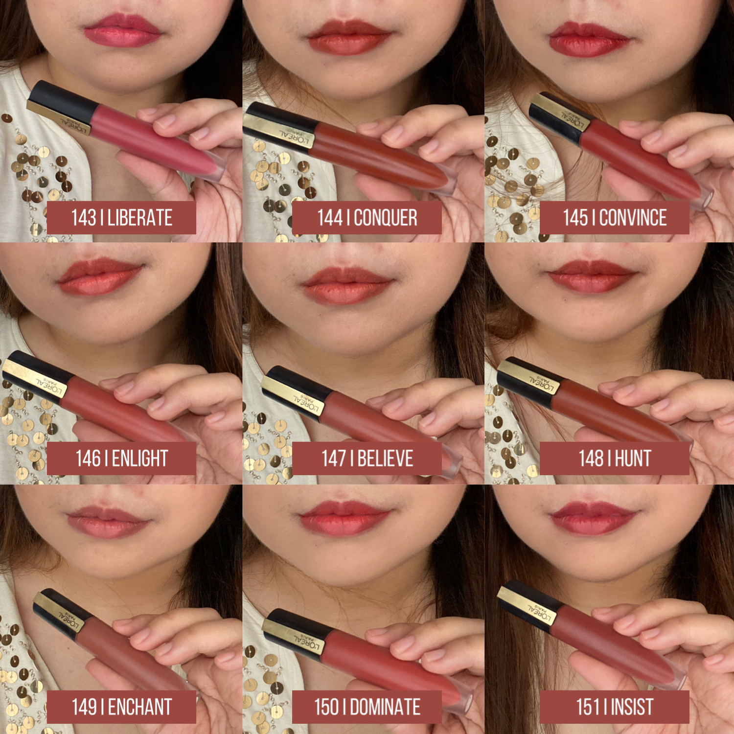L'Oreal Paris Rouge Signature Baked Nudes Swatches and Review