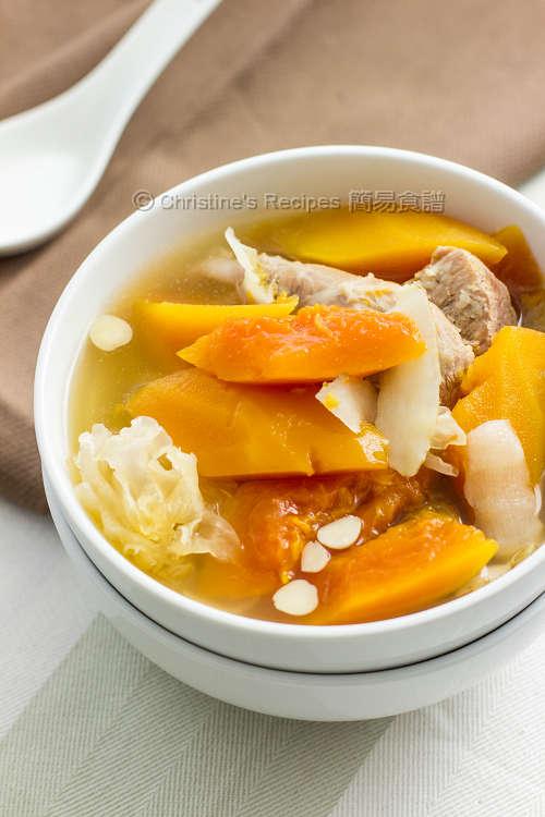 紅木瓜雪耳湯 Red Papaya Soup01