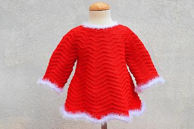 4 - Crochet Imagenes Mangas para vestido rojo navidad a crochet y ganchillo por Majovel Crochet