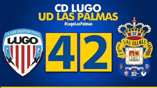 Marcador final CD Lugo 4-2 UD Las Palmas