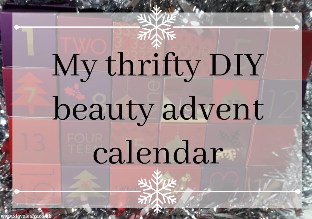 Diy Makeup Advent Calendar : My thrifty diy beauty advent calendar love leah
