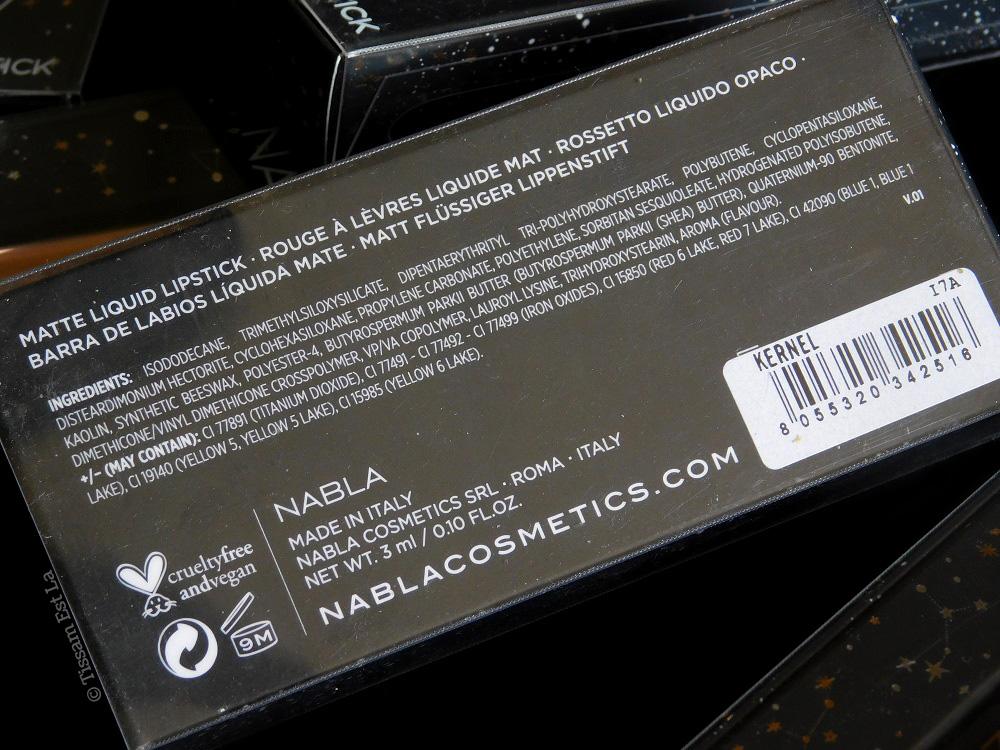 Nabla Cosmetics - Dreamy Matte Liquid Lipsticks - Stronger - Sweet Gravity - Grande Amore - Kernel - Five O'Clock - Narcotic - Black Champagne - Unspoken - Rumors - Swatches & Review - Avis et Revue