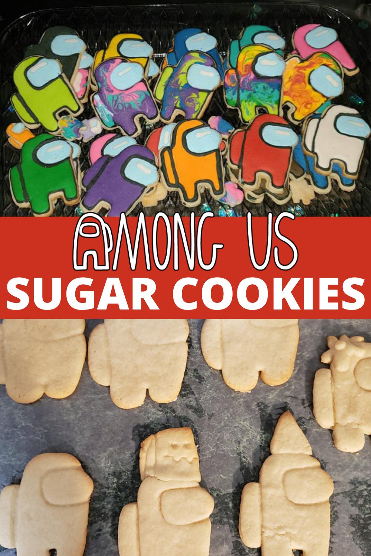 Among Us Crewmates Sugar Cookies