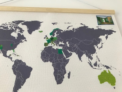 Cross stitch map in progress