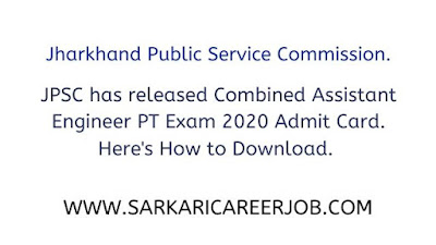 Jharkhand public service commission exam admit card.