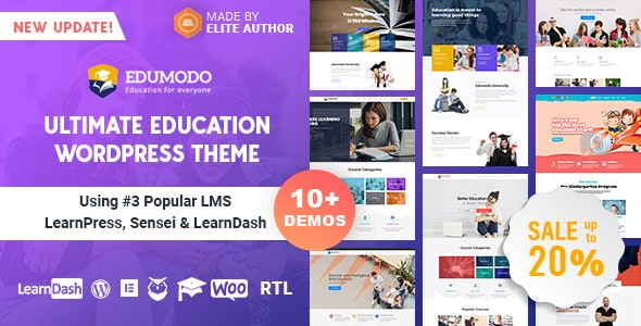 [v4.0] Edumodo WordPress Theme Free Download Nulled