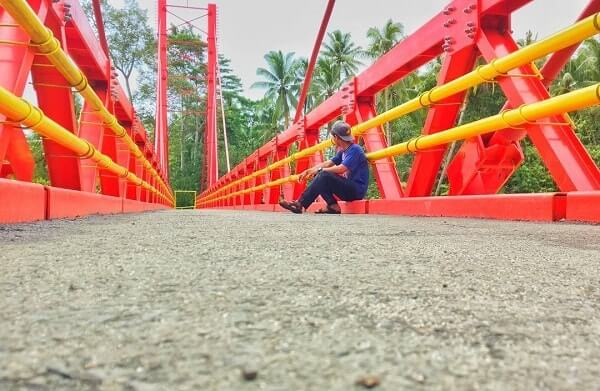 jembatan merah wonosobo tanggamus lampung