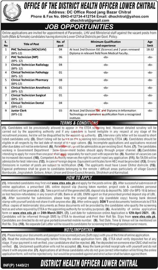 Latest Jobs in Health Department -Health Office 2021