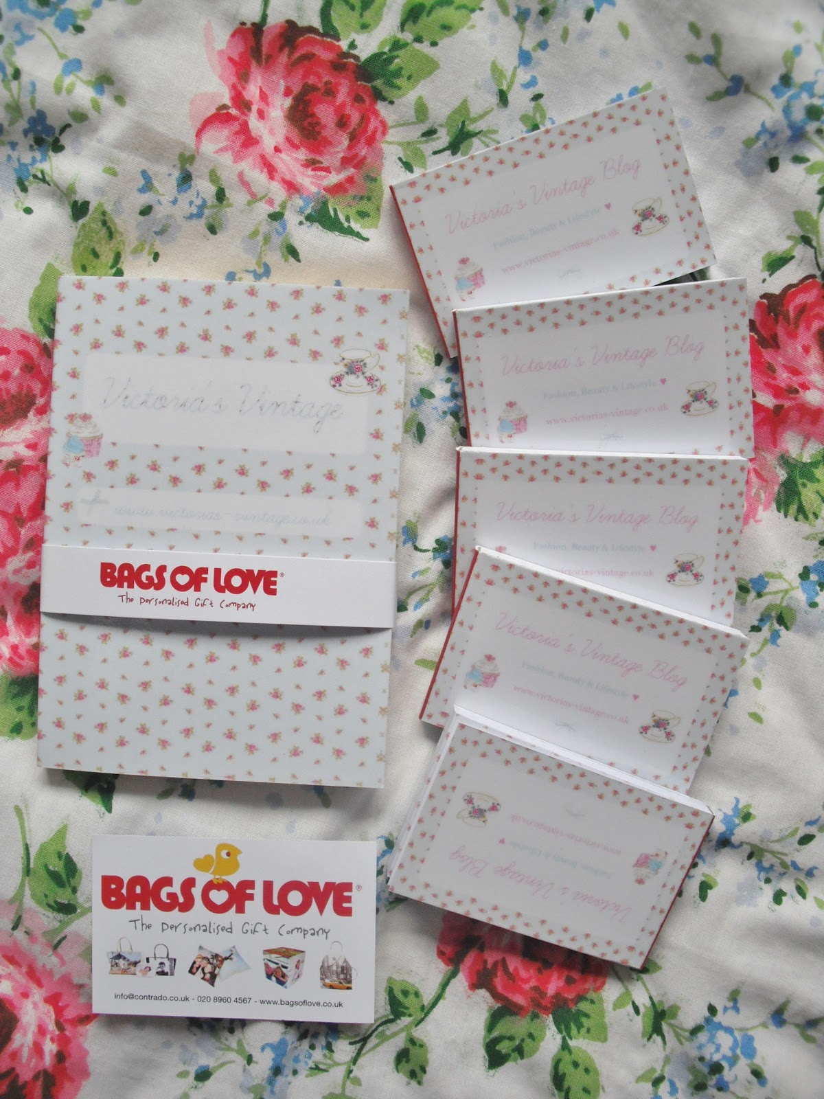 Bags Of Love Personalised Business Cards Notebook