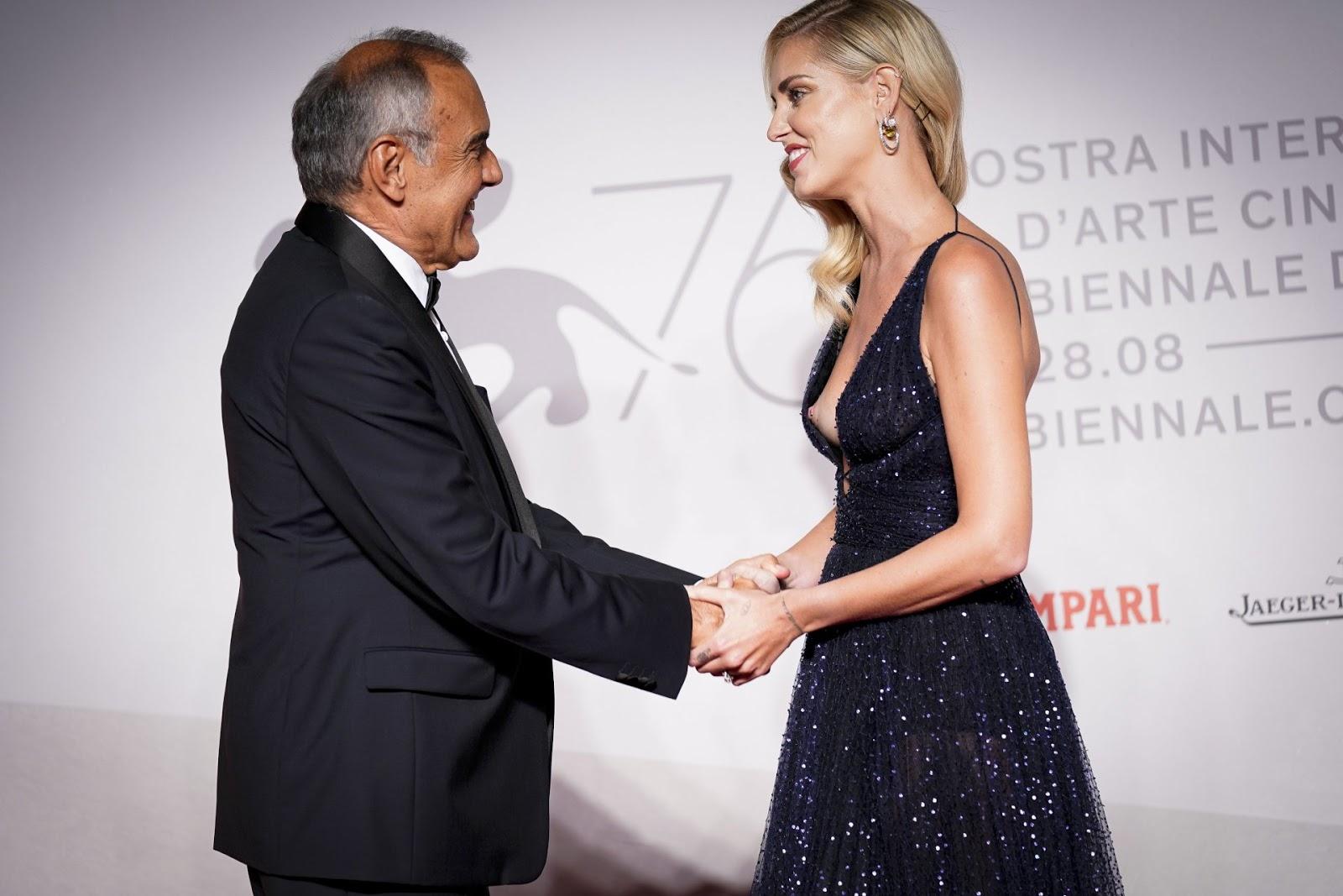 Chiara Ferragni – Nipslip at 'Chiara Ferragni – Unposted' Premiere in Venice
