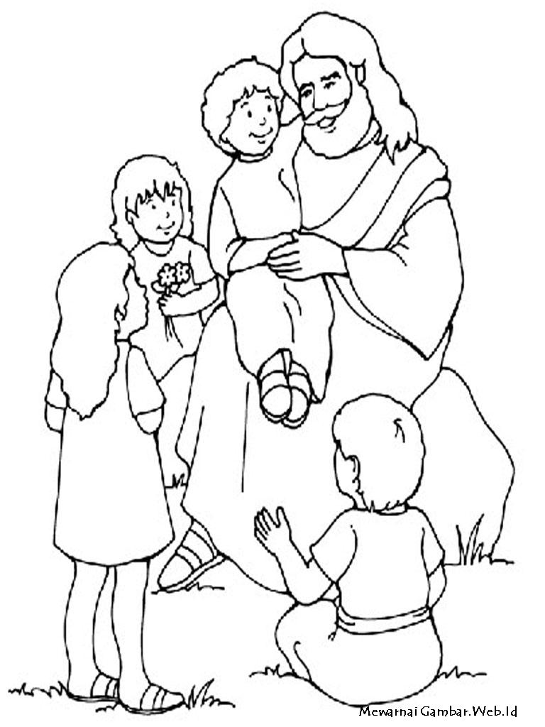 Daftar Gambar Mewarnai Rohani Kristen