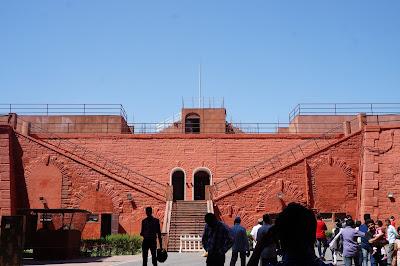 Lahore Gate untuk keluar masuk di Red fort