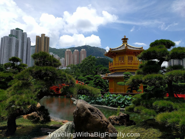 Taking small children to the Nan Lian Garden in Hong Kong