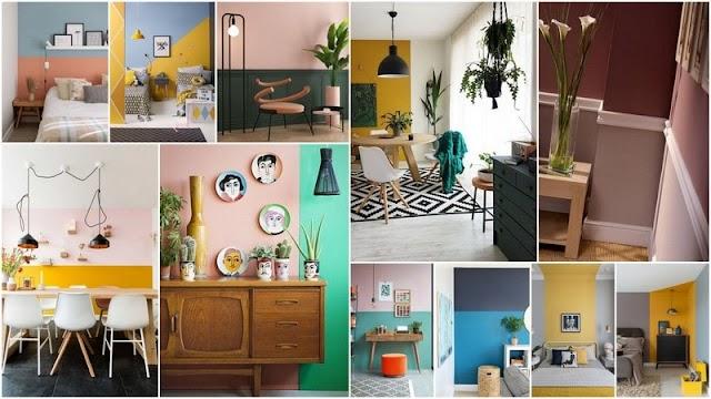 4 Τρόποι και πολλές Ιδέες για να Βάψετε τοίχους σε Δύο Χρώματα