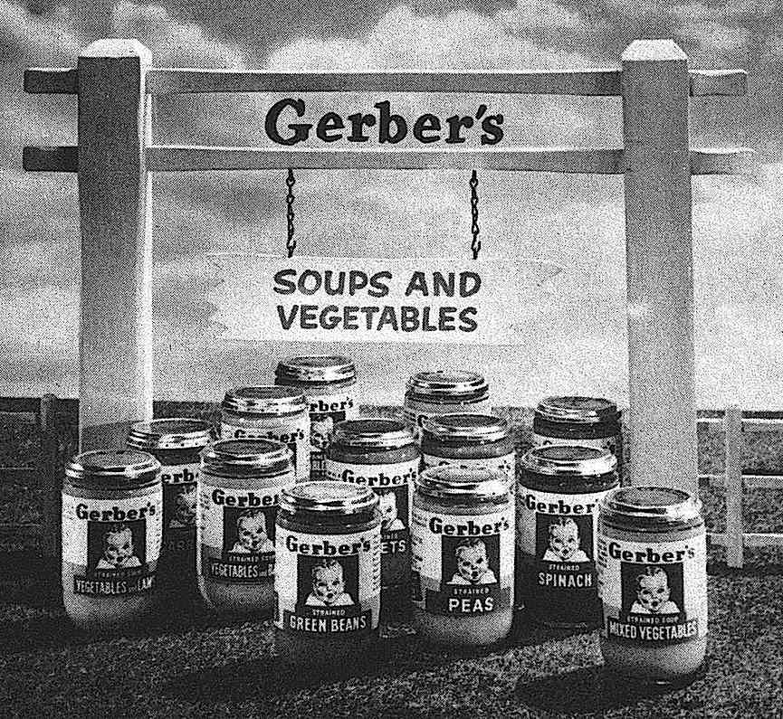 a 1954 animated tv commercial still photograph for Gerber's baby foods