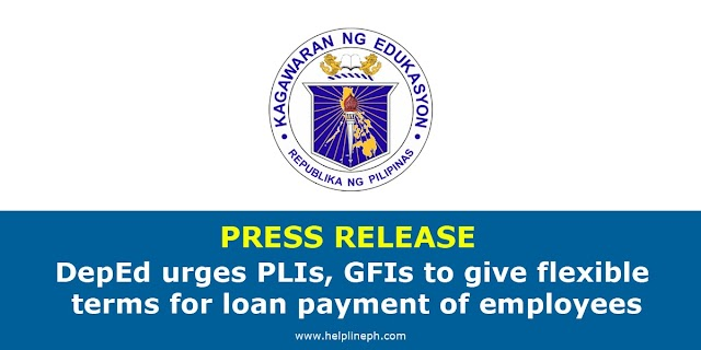 DepEd urges PLIs, GFIs to give flexible terms for loan payment of employees