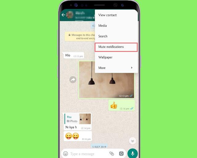 Mute Notifications - WhatsApp tricks