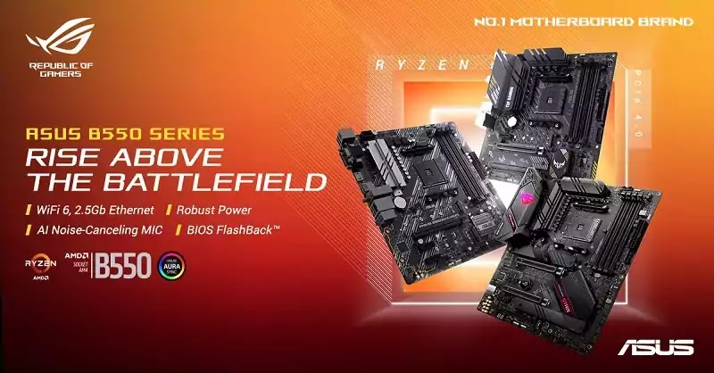 ASUS AMD B550 Motherboards Local Availability
