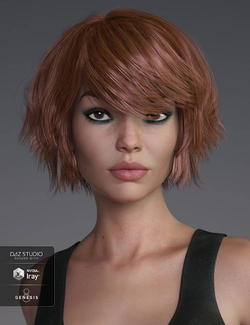 Pop Cut Hair for Genesis 3 and 8 Female
