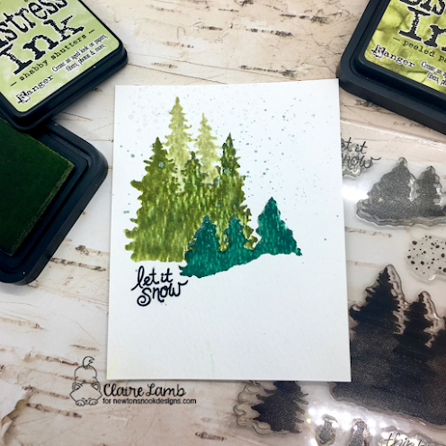 Let it snow by Claire features Whispering Pines by Newton's Nook Designs; #inkypaws, #newtonsnook