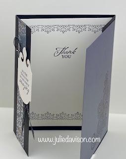 Stampin' Up! Simply Elegant Extended Gate Fold Card ~ www.juliedavison.com #stampinup