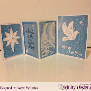 Stamp Set: Silent Night  Custom Dies: Four Panel Card with Layers, Holy Night, Splendorous Star, Holiday Word, Christmas Dove  Paper Collection: Christmas 2019