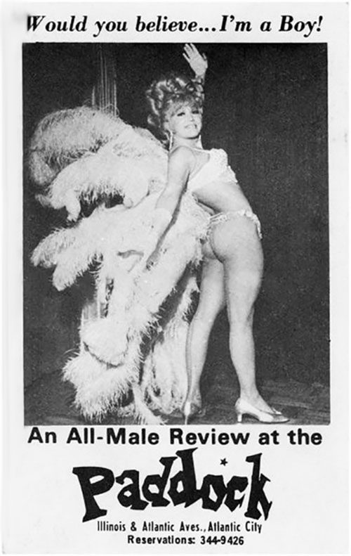 "Advertisement for an ""All-Male Review"" in Atlantic City, circa 1969"