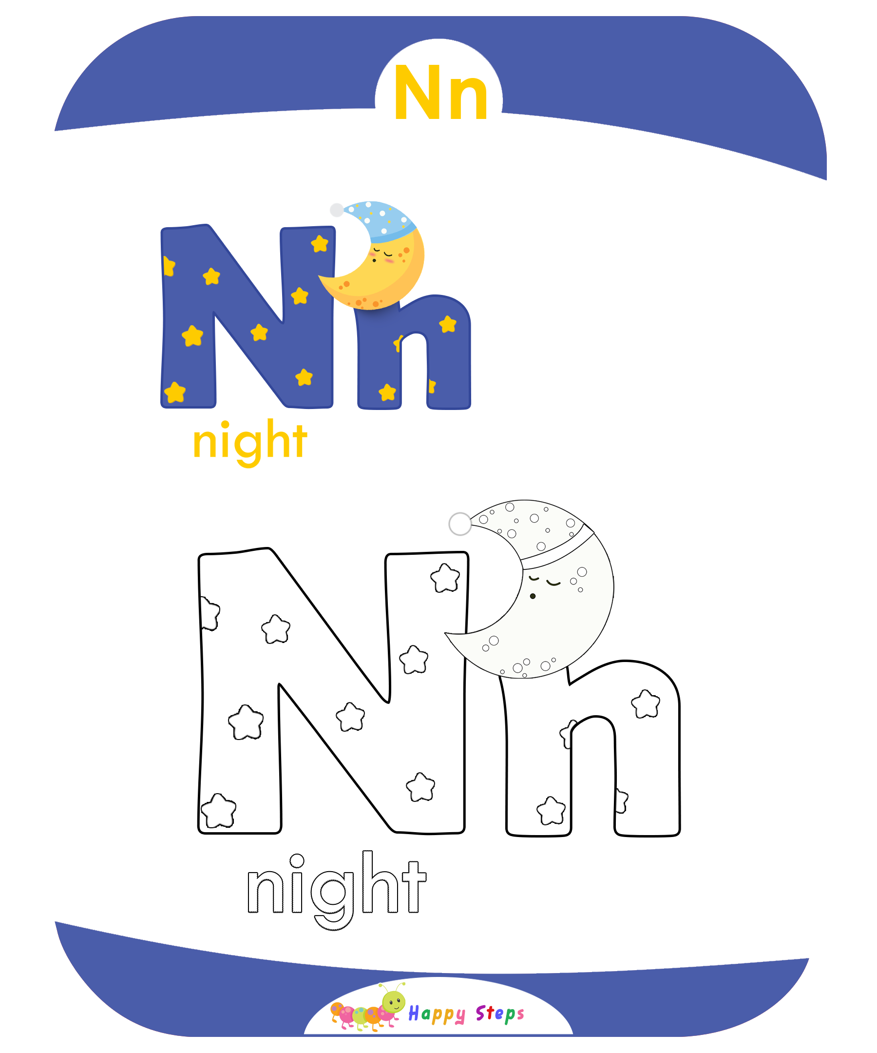 Coloring Worksheets Letter N
